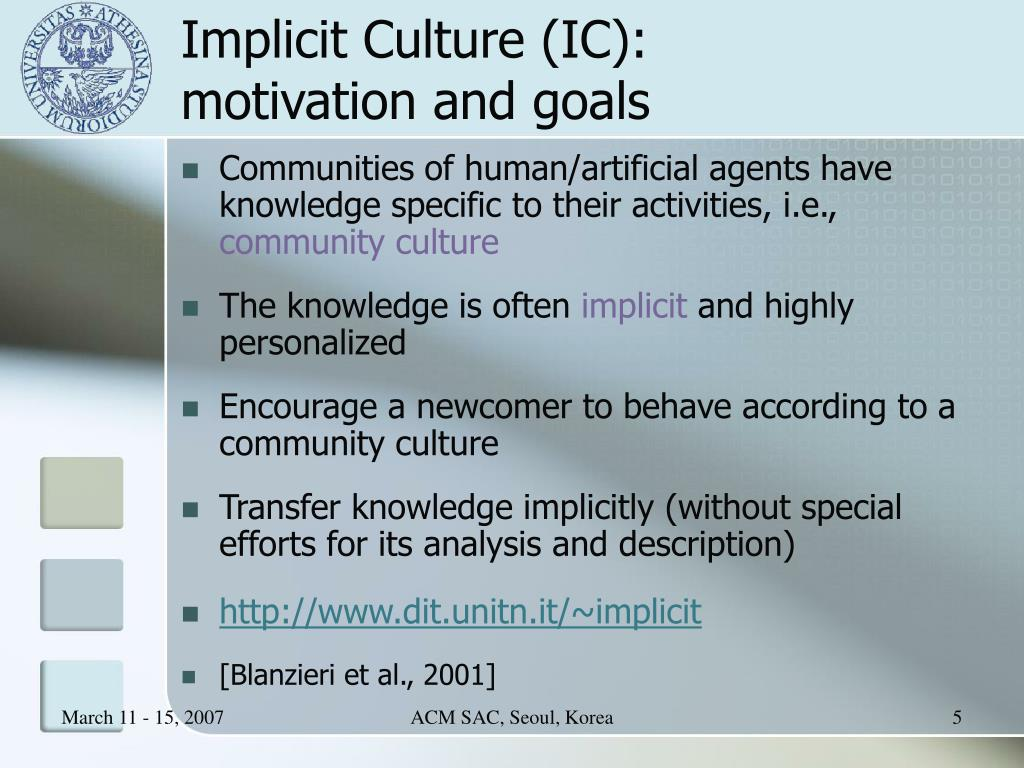 Implicit Culture (IC):