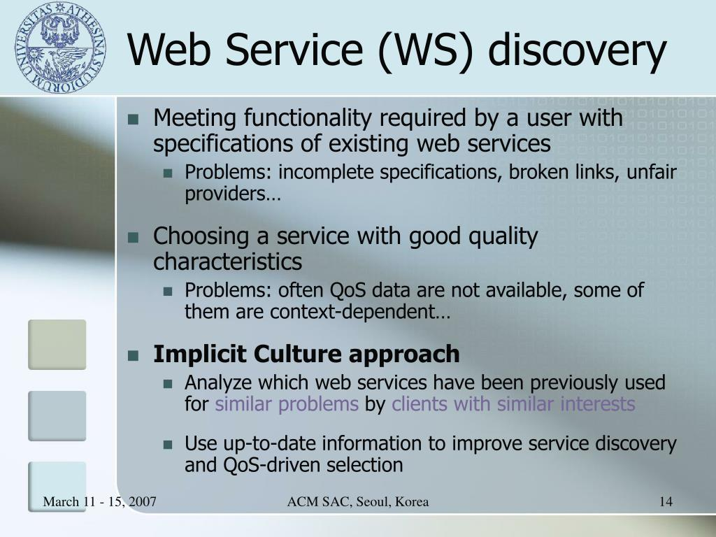 Web Service (WS) discovery