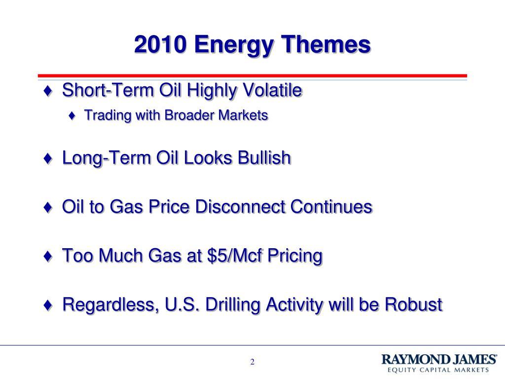 2010 Energy Themes
