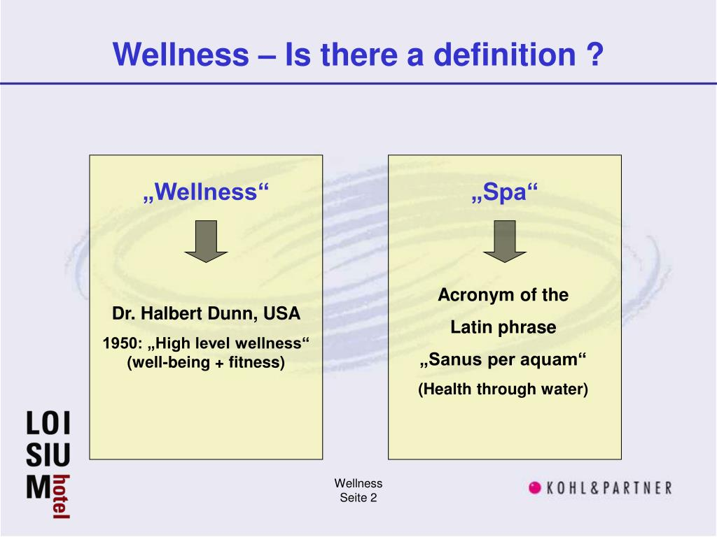 Wellness – Is there a definition ?