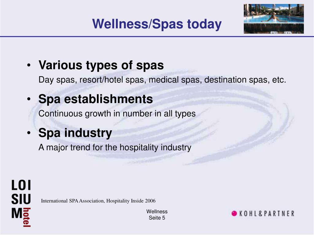 Wellness/Spas today