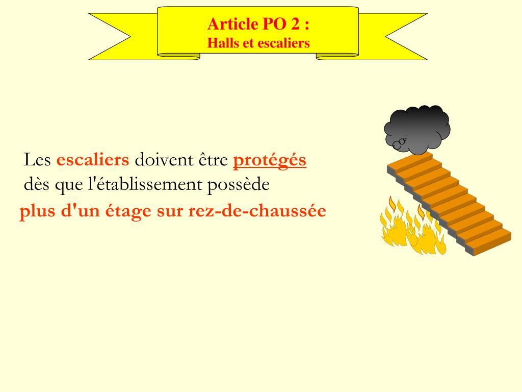 Article PO 2 :