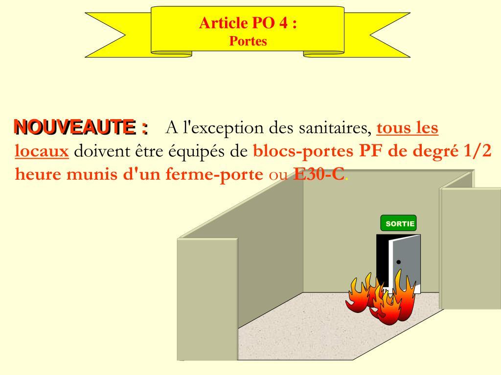Article PO 4 :