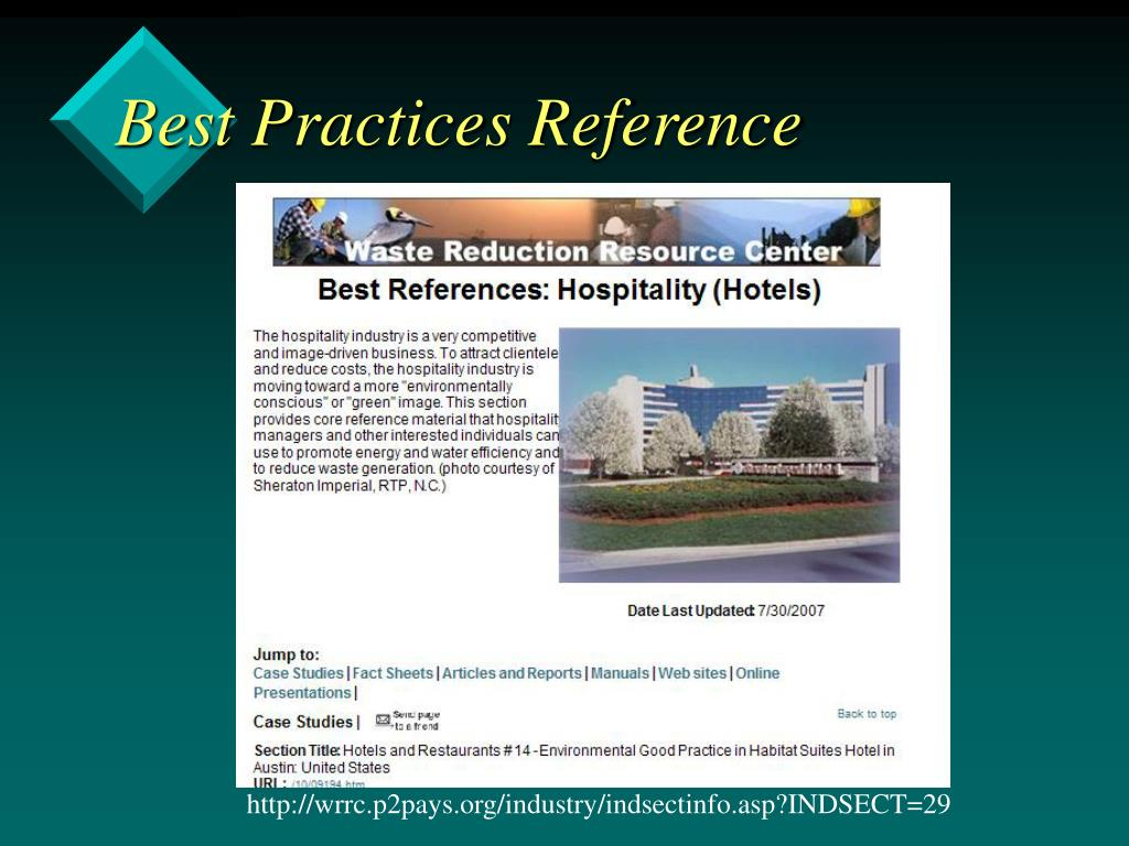 Best Practices Reference