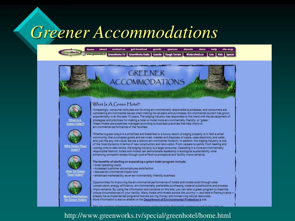 Greener Accommodations