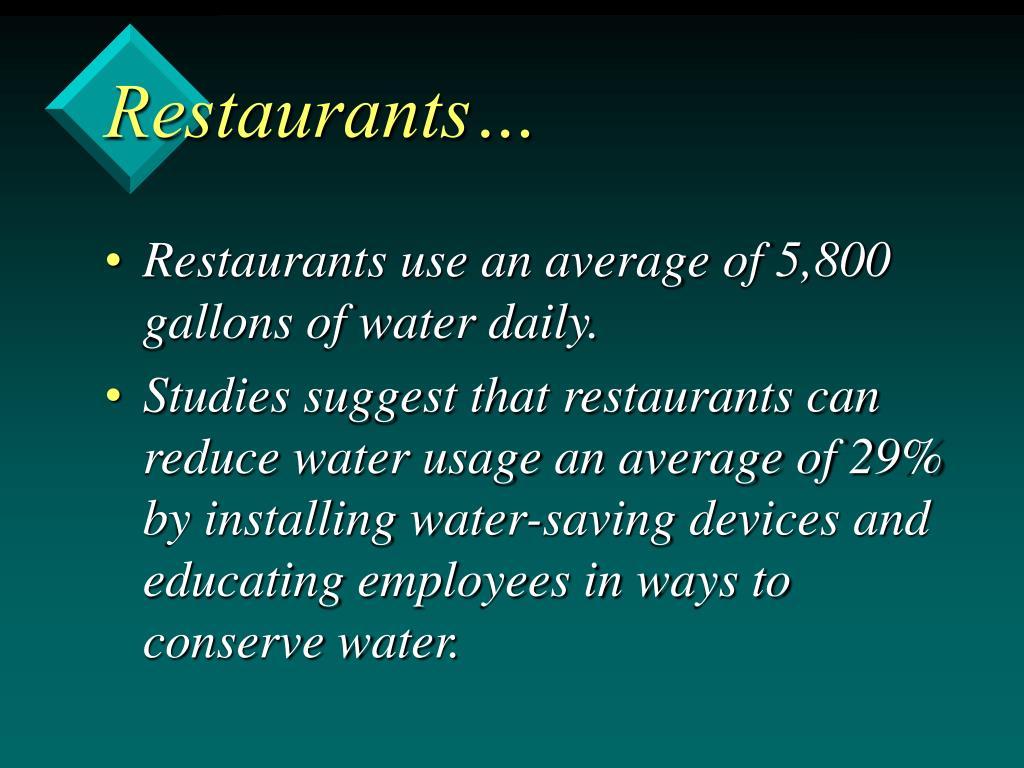 Restaurants…