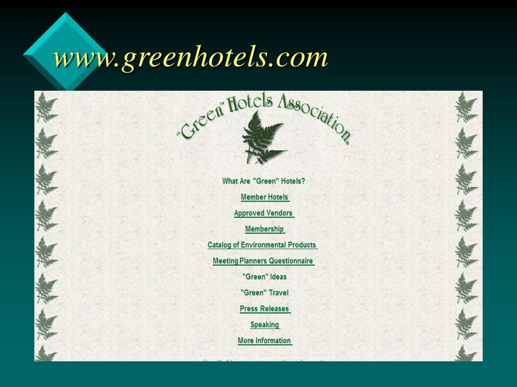 www.greenhotels.com