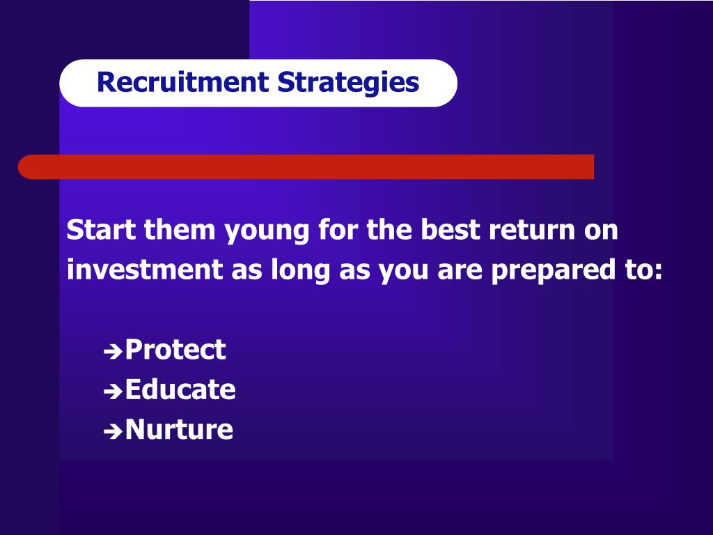 Recruitment Strategies