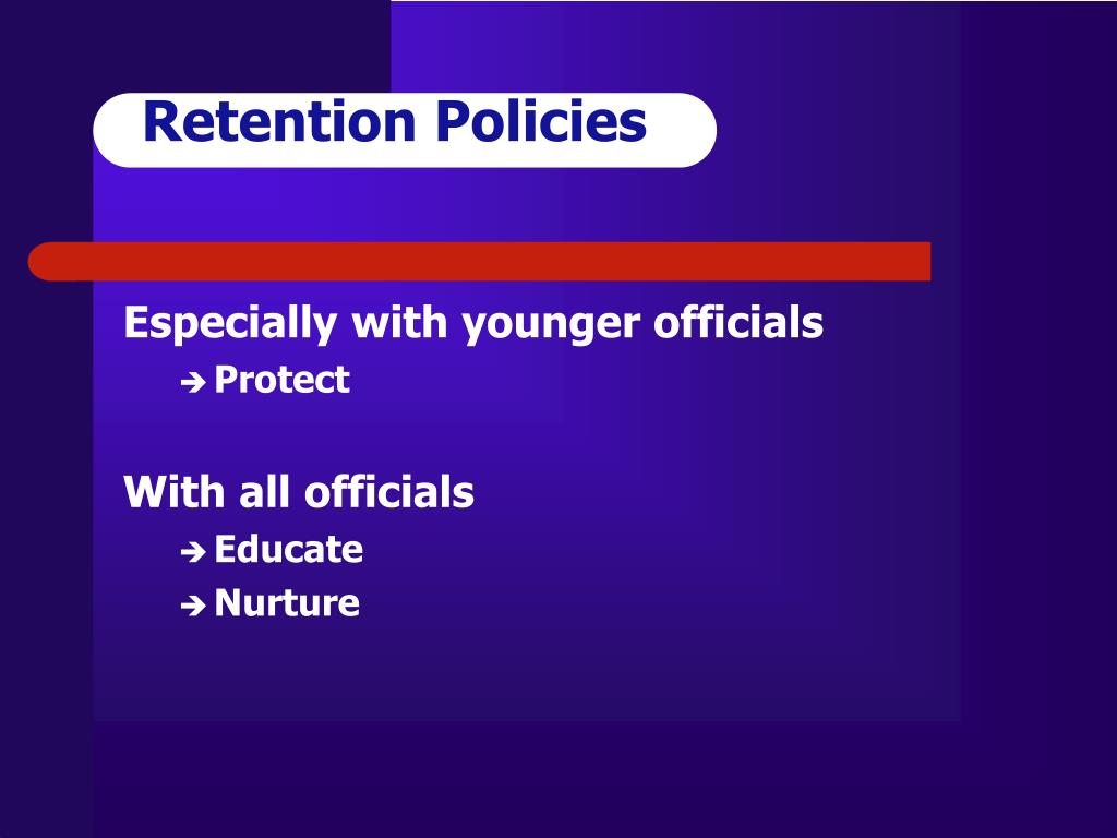 Retention Policies