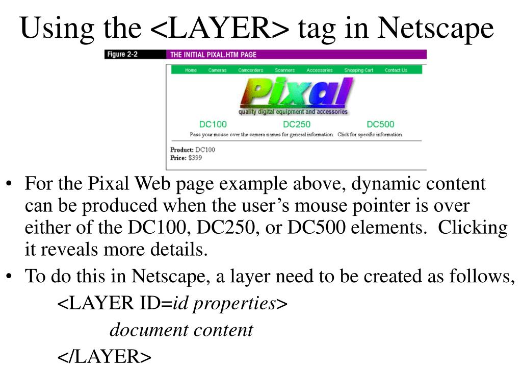 Using the <LAYER> tag in Netscape