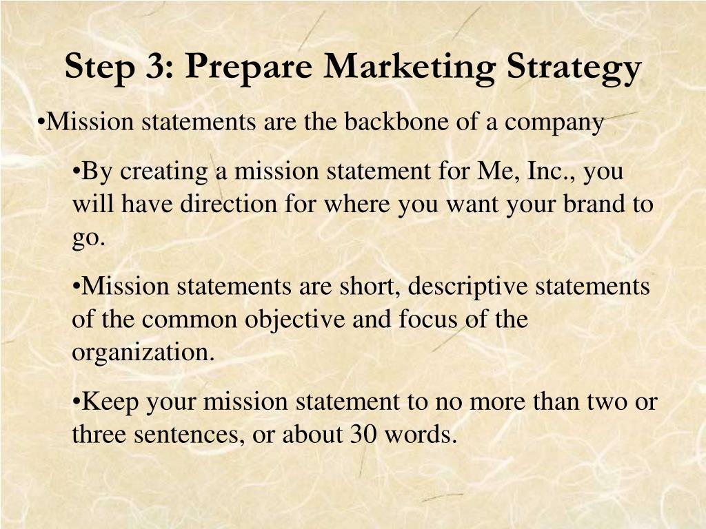 Step 3: Prepare Marketing Strategy