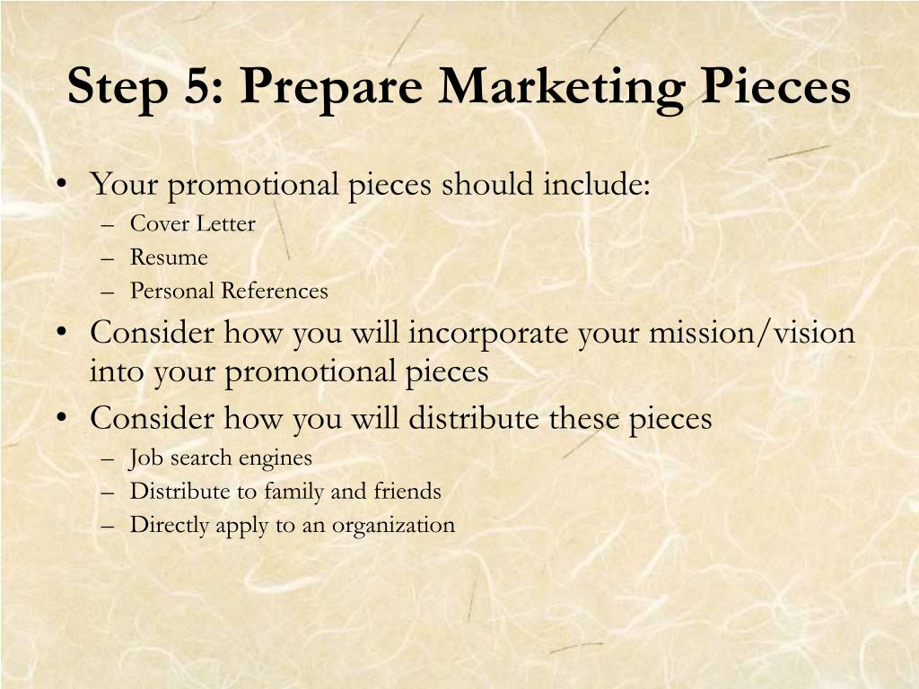 Step 5: Prepare Marketing Pieces