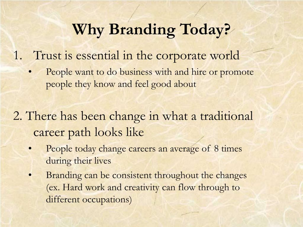 Why Branding Today?