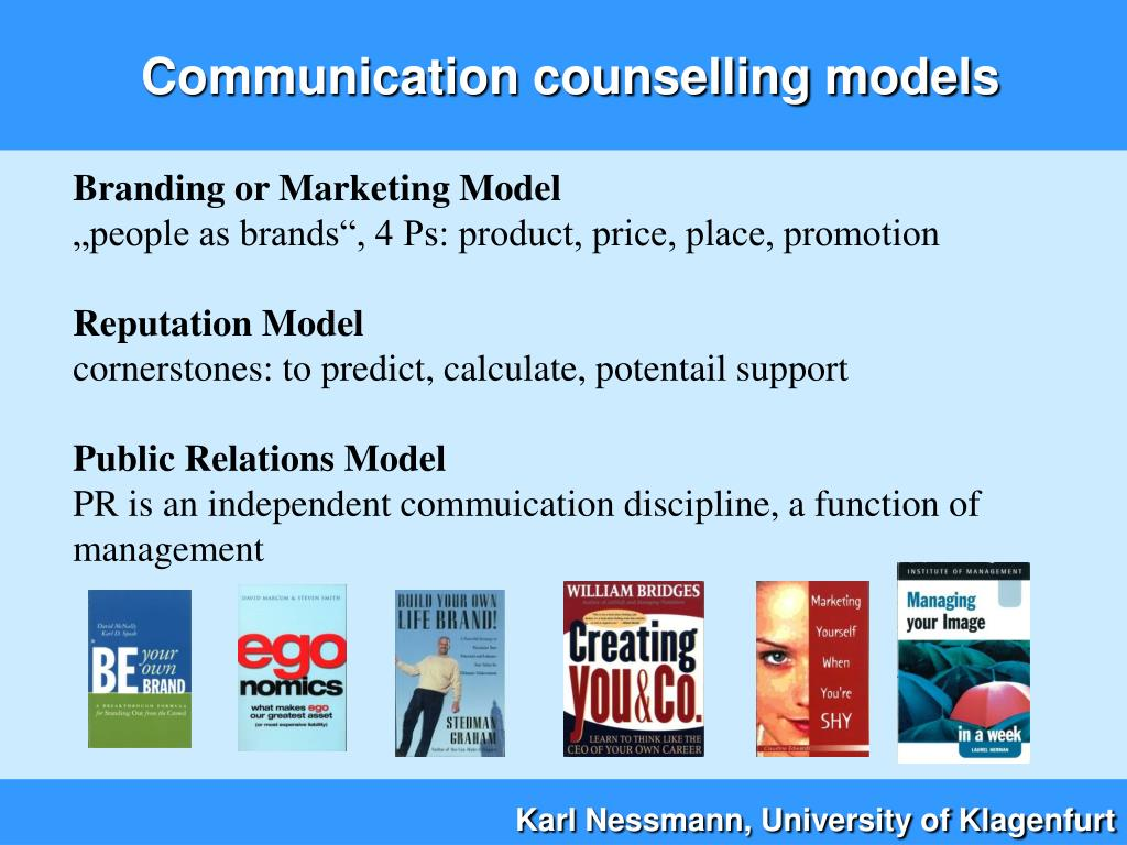 Communication counselling models
