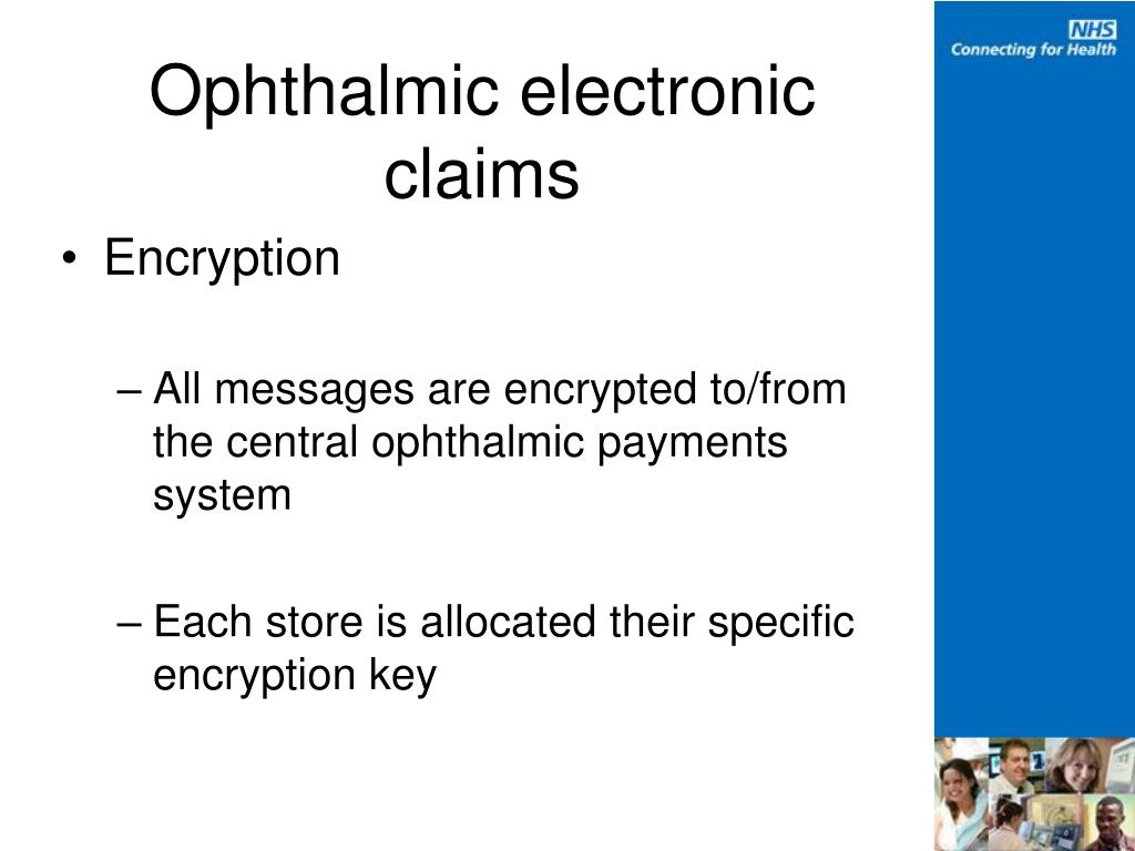 Ophthalmic electronic claims