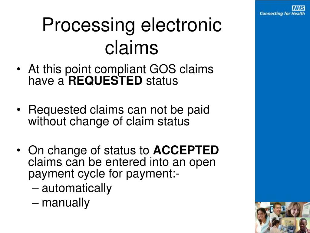 Processing electronic claims