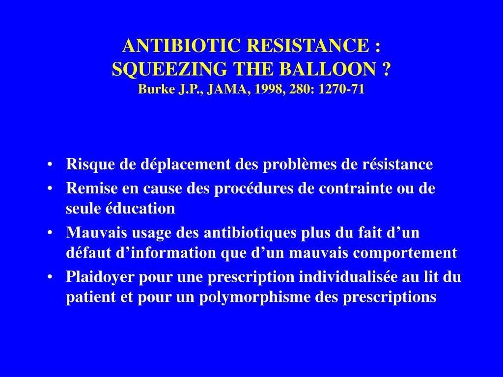 ANTIBIOTIC RESISTANCE :