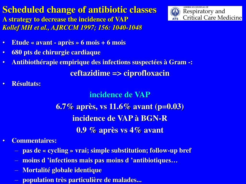 Scheduled change of antibiotic classes