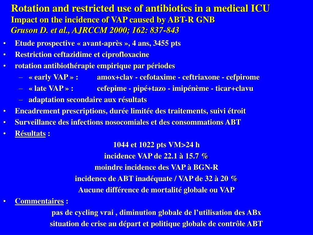 Rotation and restricted use of antibiotics in a medical ICU