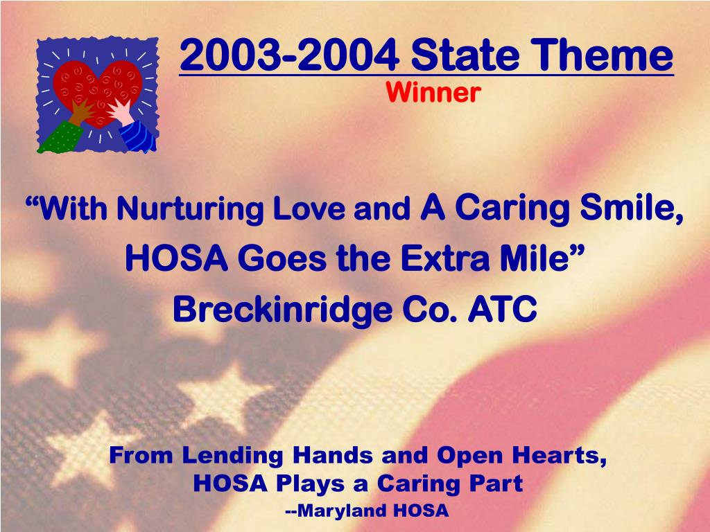 2003-2004 State Theme
