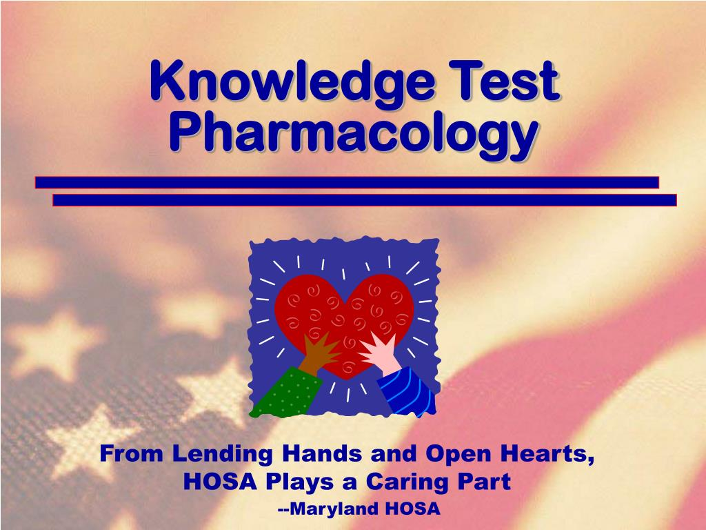Knowledge Test Pharmacology