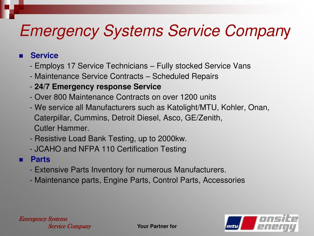 Emergency Systems Service Compan
