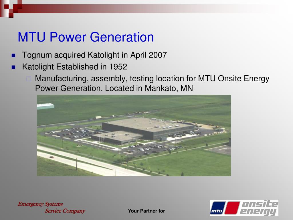 MTU Power Generation