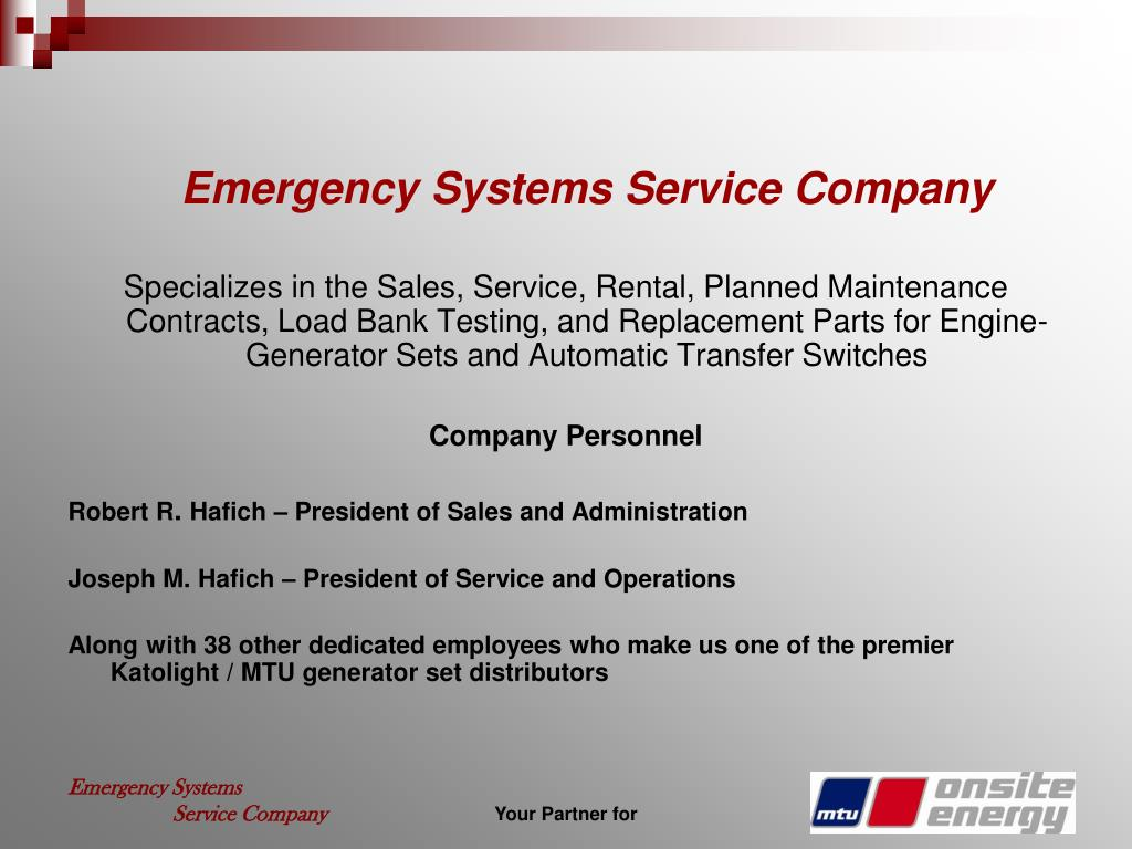 Emergency Systems Service Company