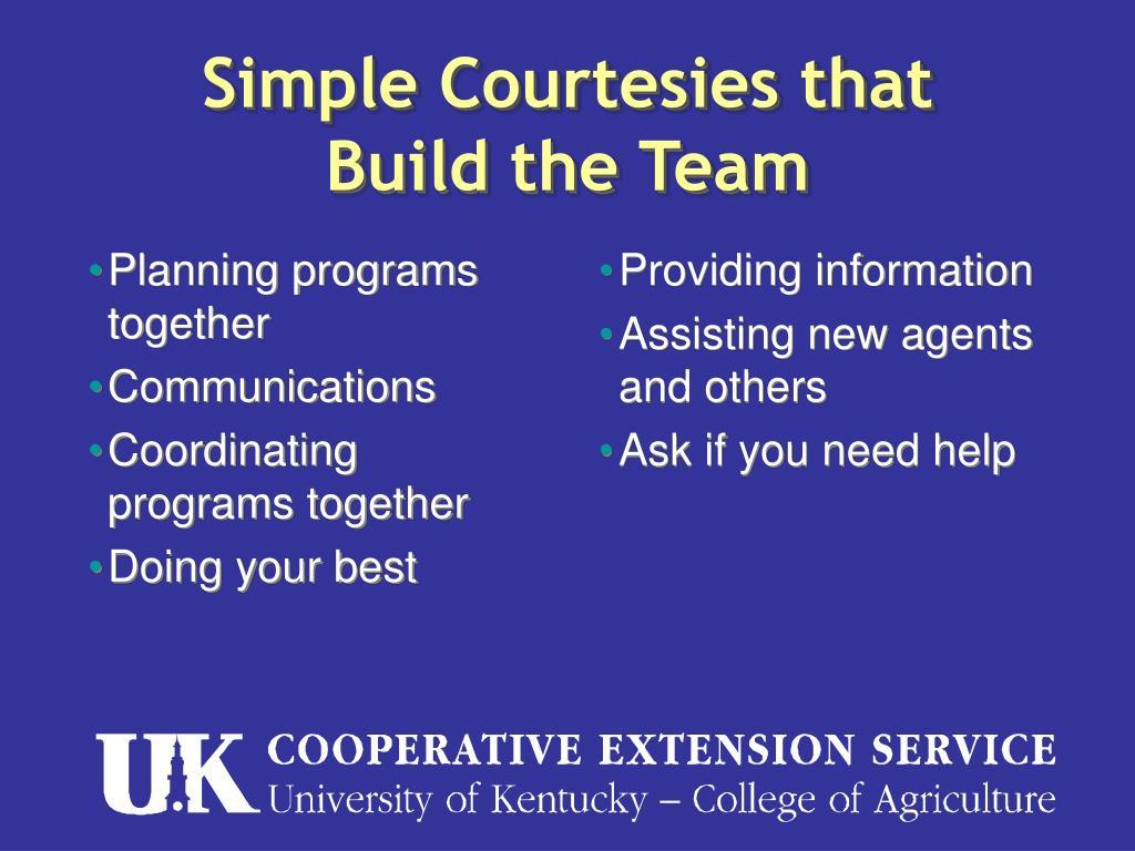 Planning programs together