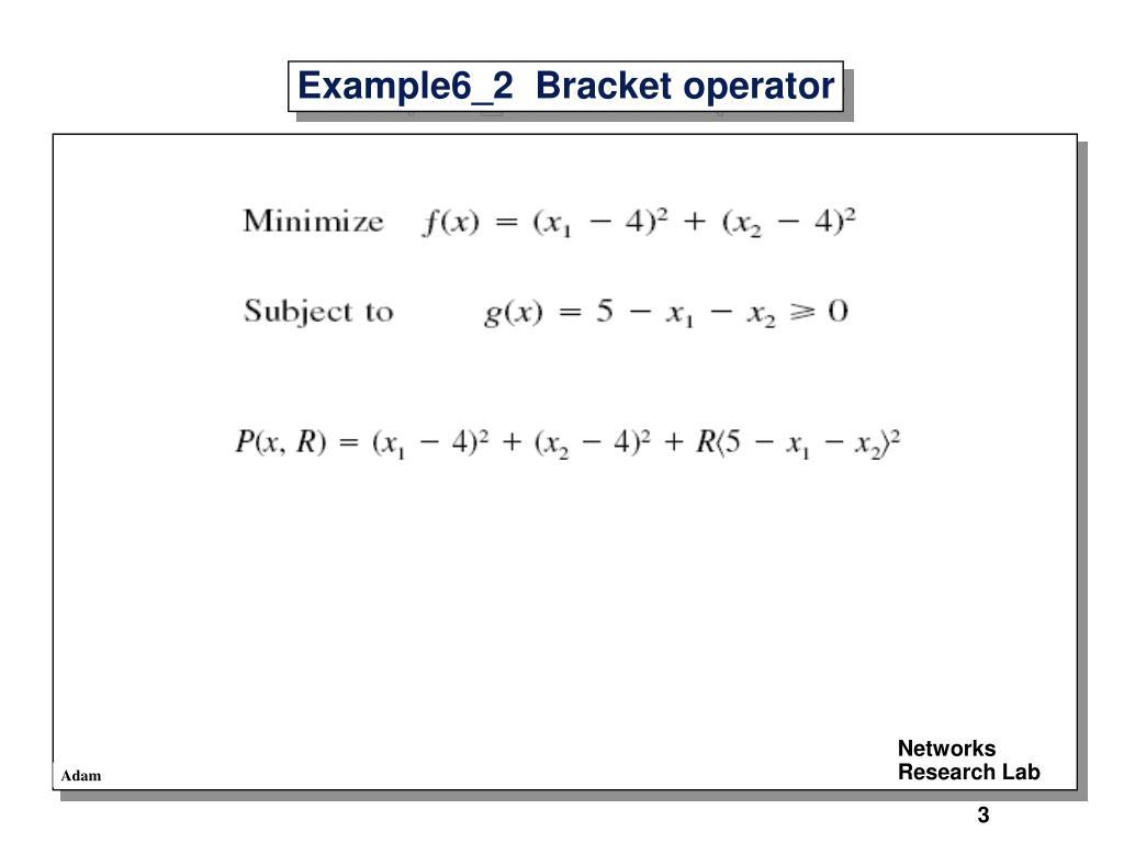 Example6_2  Bracket operator