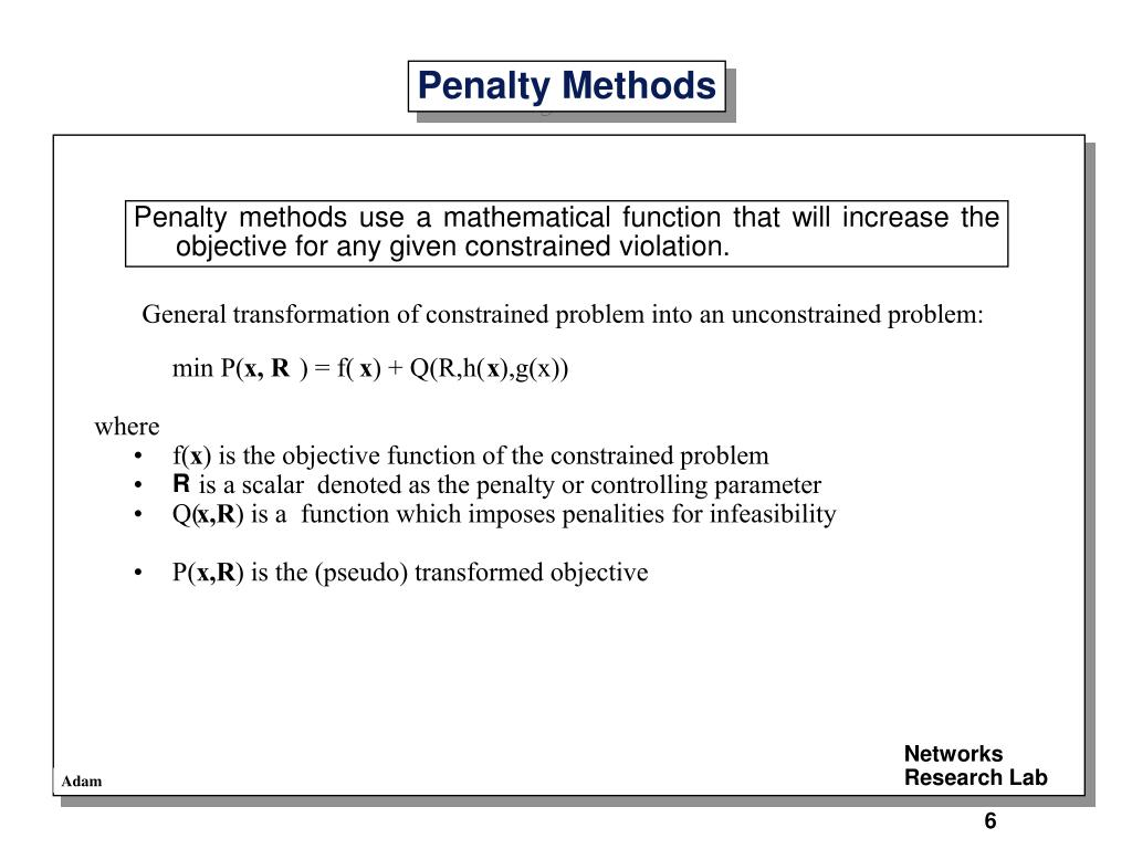 Penalty Methods