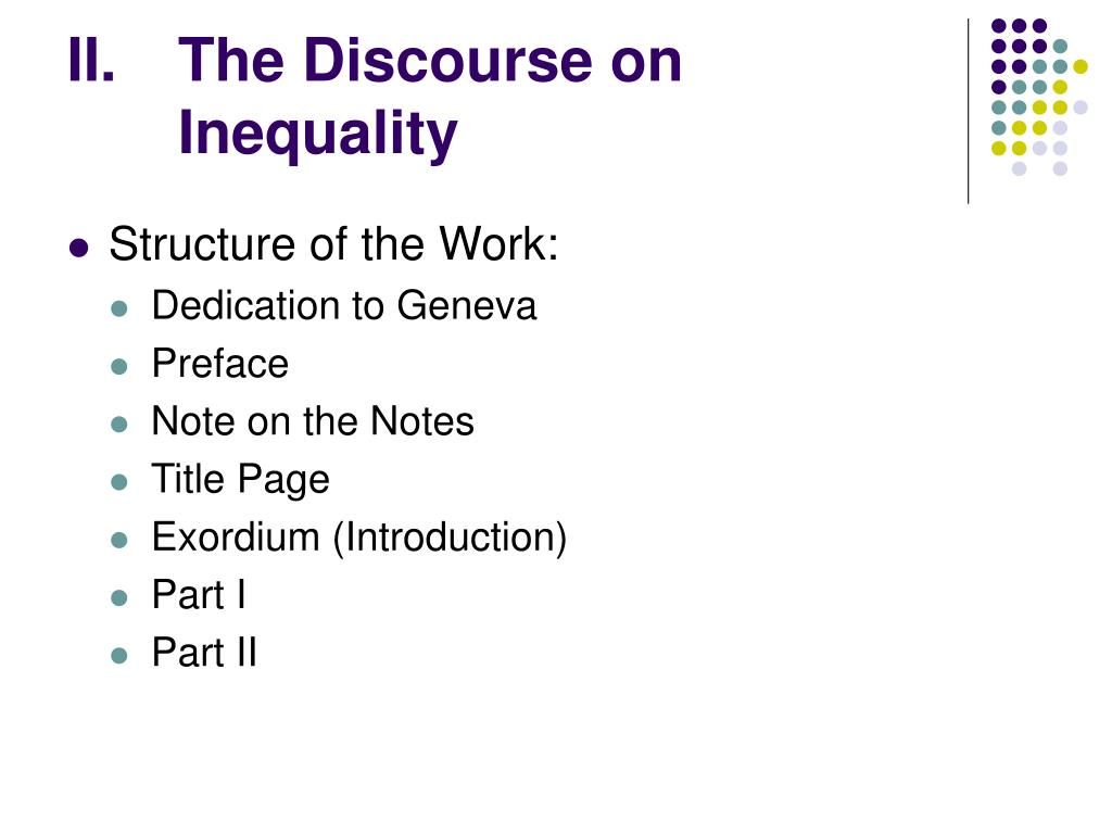 rousseau discourse on inequality essay Comparing locke´s natural law with rousseau´s discourse on inequality right of people to determine their own destiny he believes that mankind's best state is to bring the best parts of their natural instincts into society, collecting together into a state of perfect freedom.