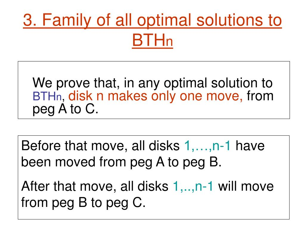 3. Family of all optimal solutions to