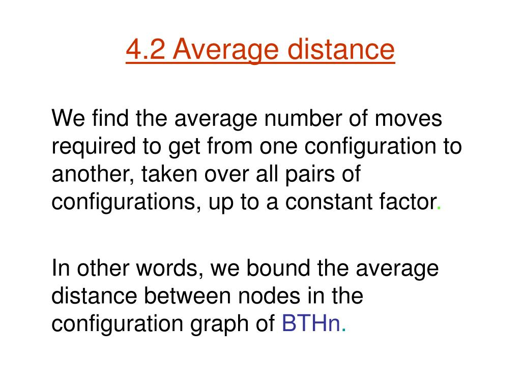 4.2 Average distance
