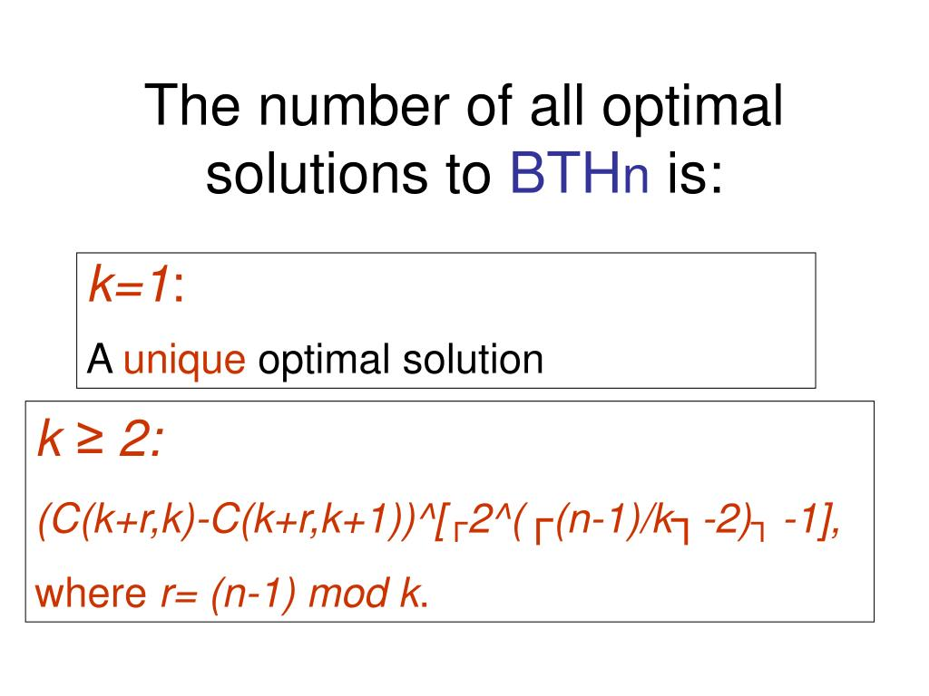 The number of all optimal solutions