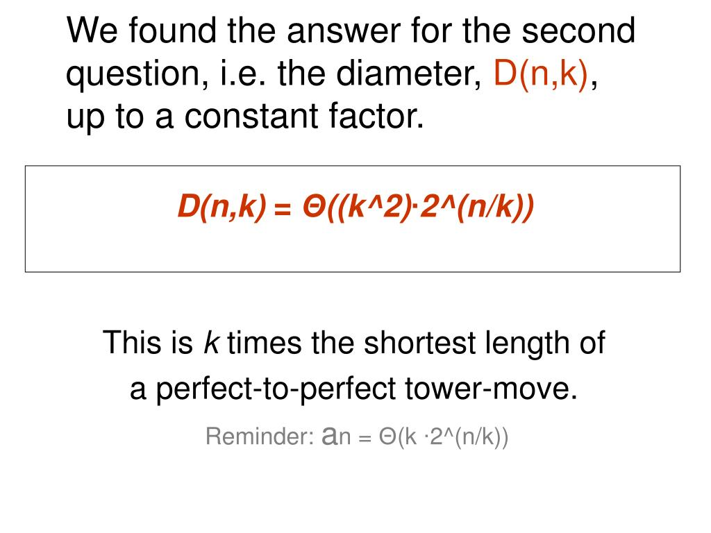We found the answer for the second question, i.e. the diameter,