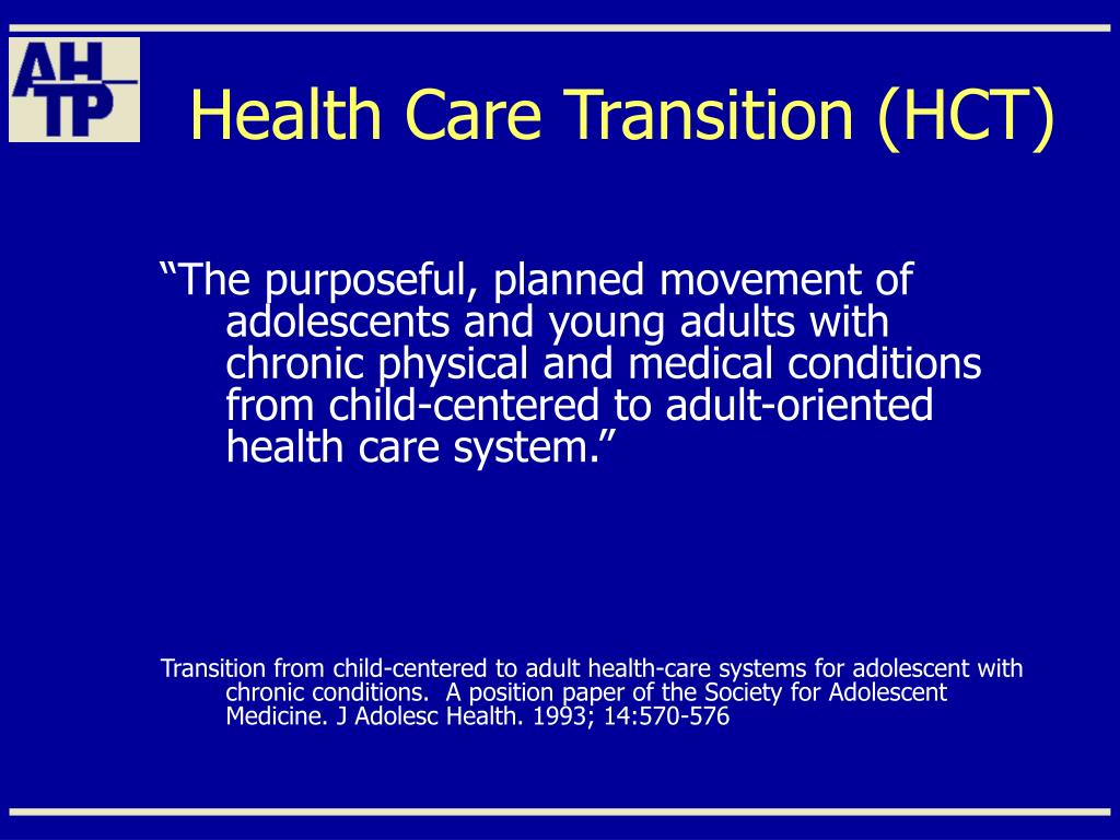 Health Care Transition (HCT)