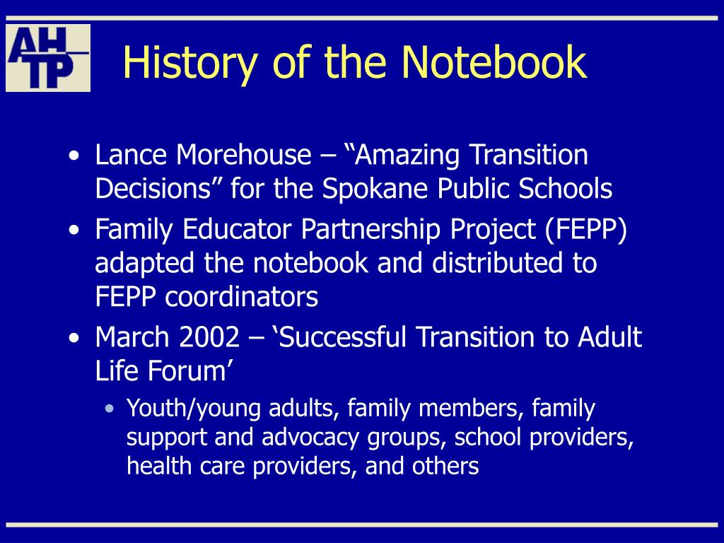 History of the Notebook