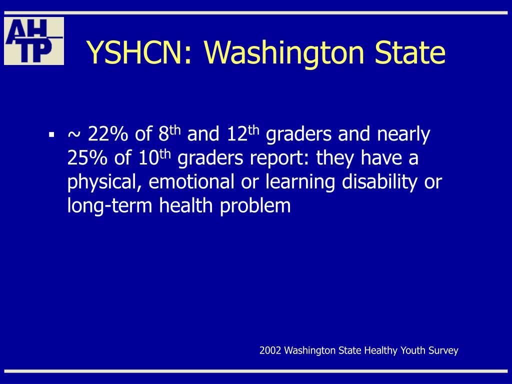 YSHCN: Washington State