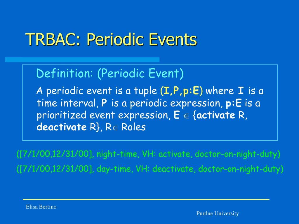 TRBAC: Periodic Events