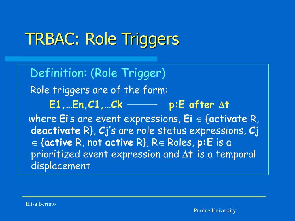 TRBAC: Role Triggers