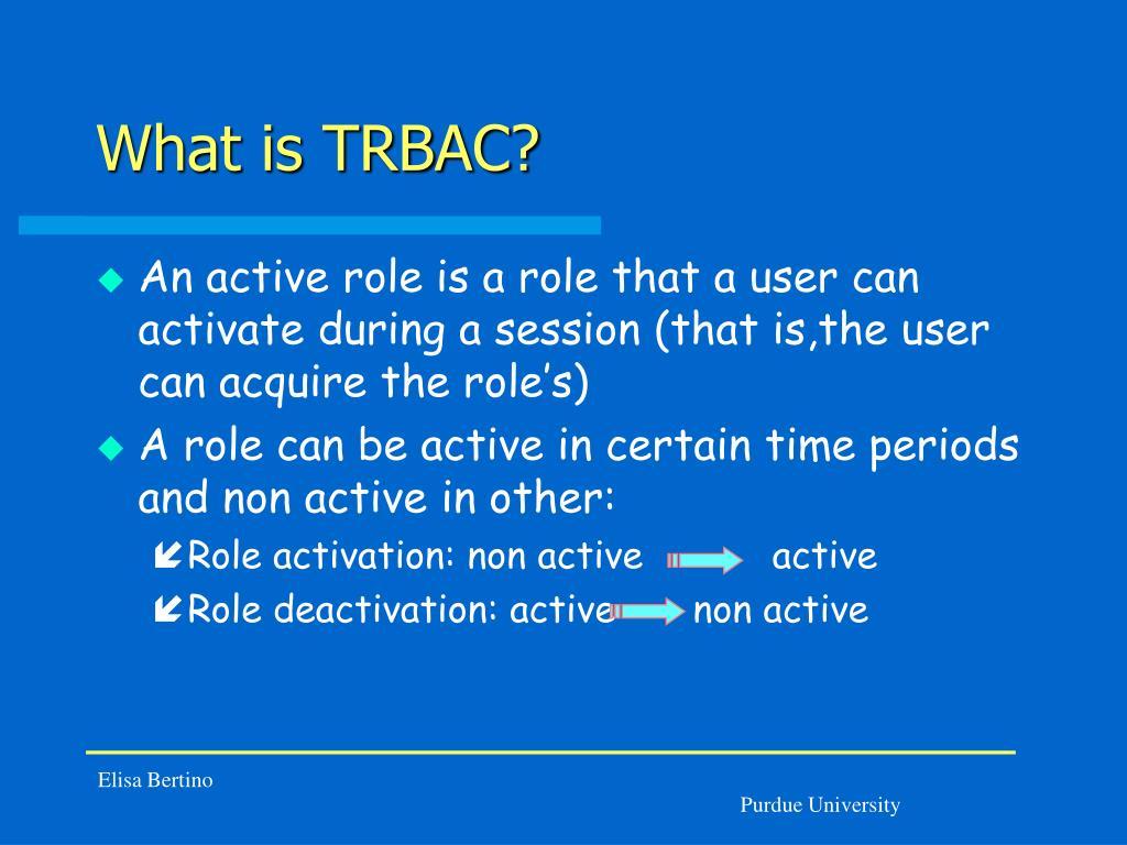 What is TRBAC?