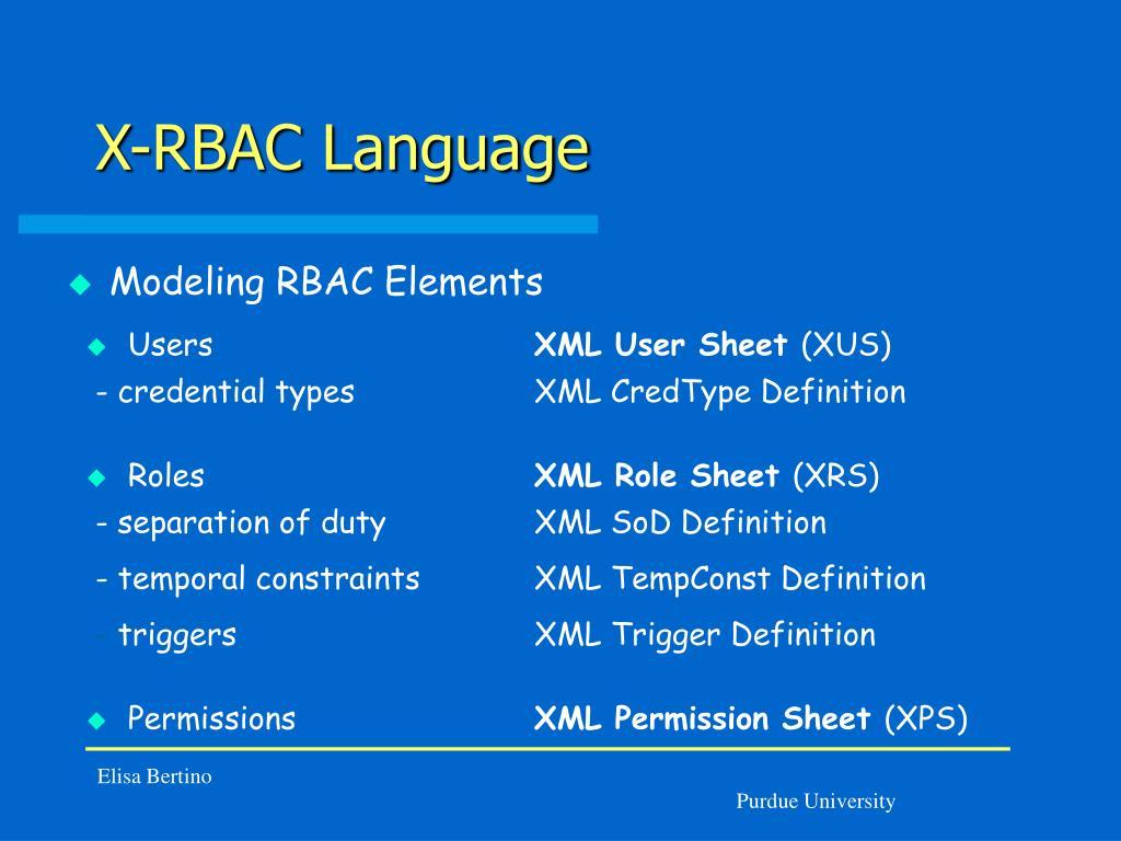 X-RBAC Language