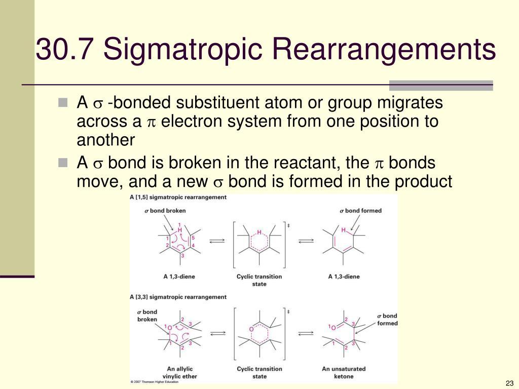 30.7 Sigmatropic Rearrangements