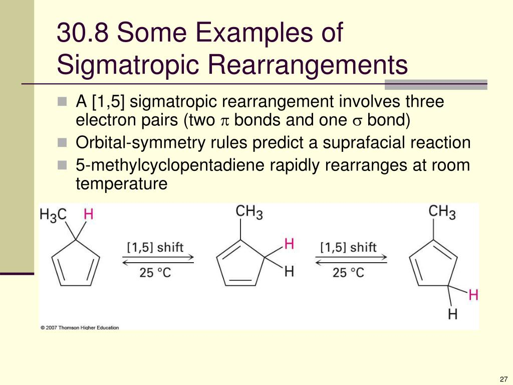 30.8 Some Examples of Sigmatropic Rearrangements
