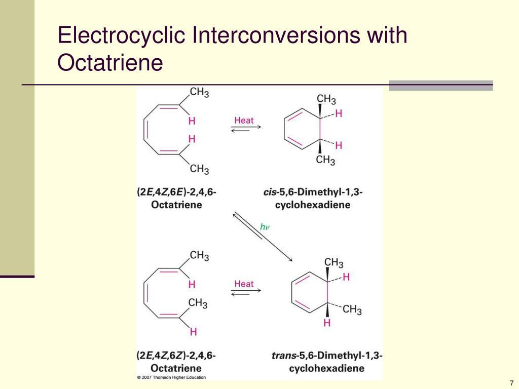 Electrocyclic Interconversions with Octatriene