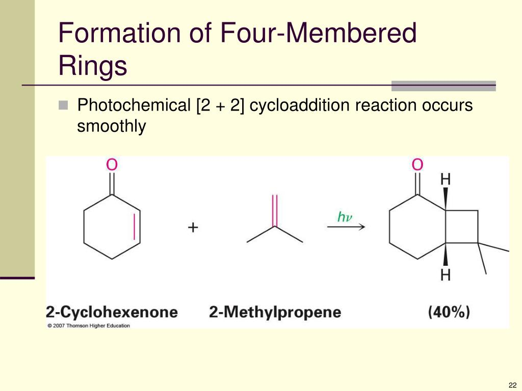 Formation of Four-Membered Rings