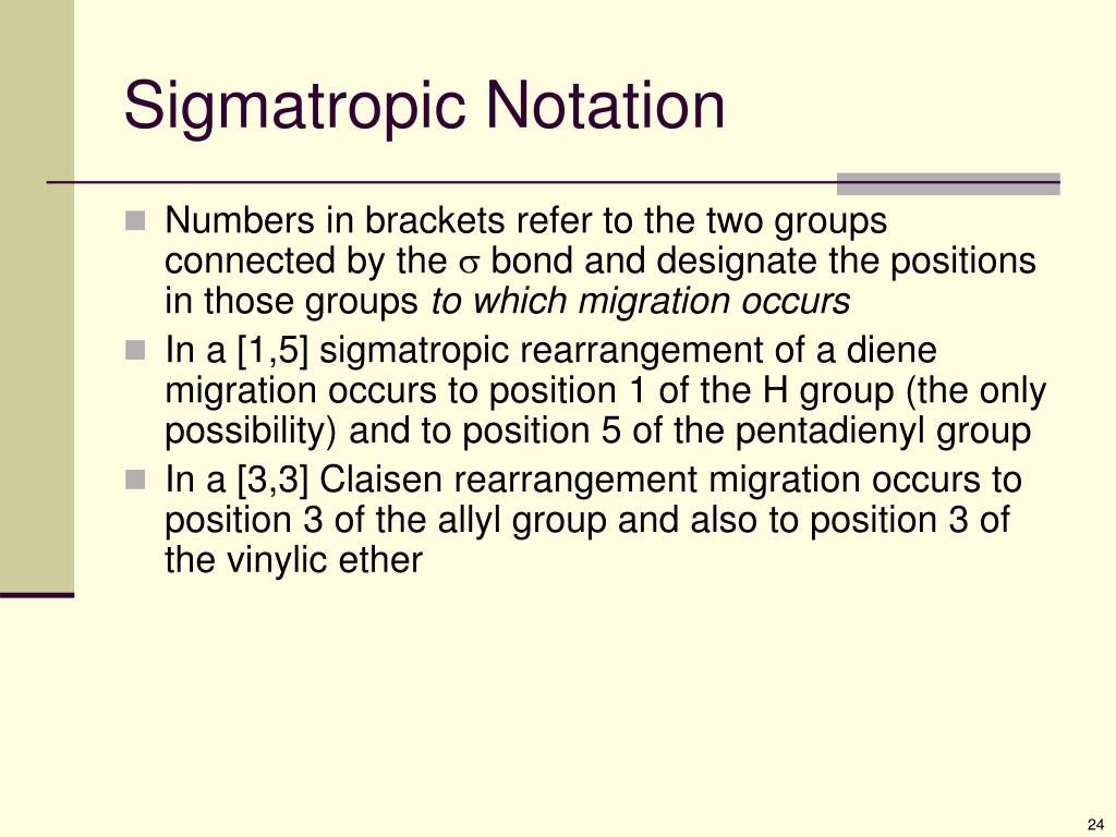 Sigmatropic Notation