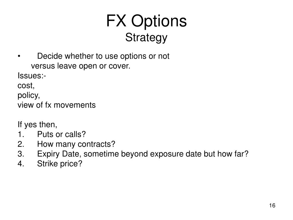 Fx options straddle