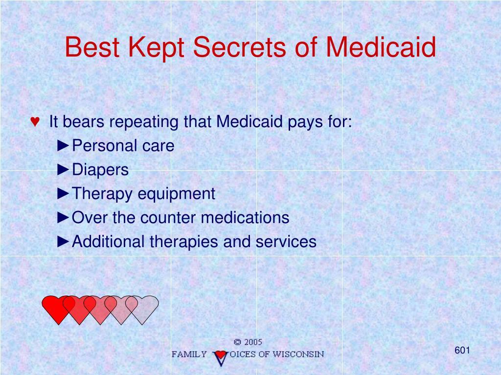 Best Kept Secrets of Medicaid